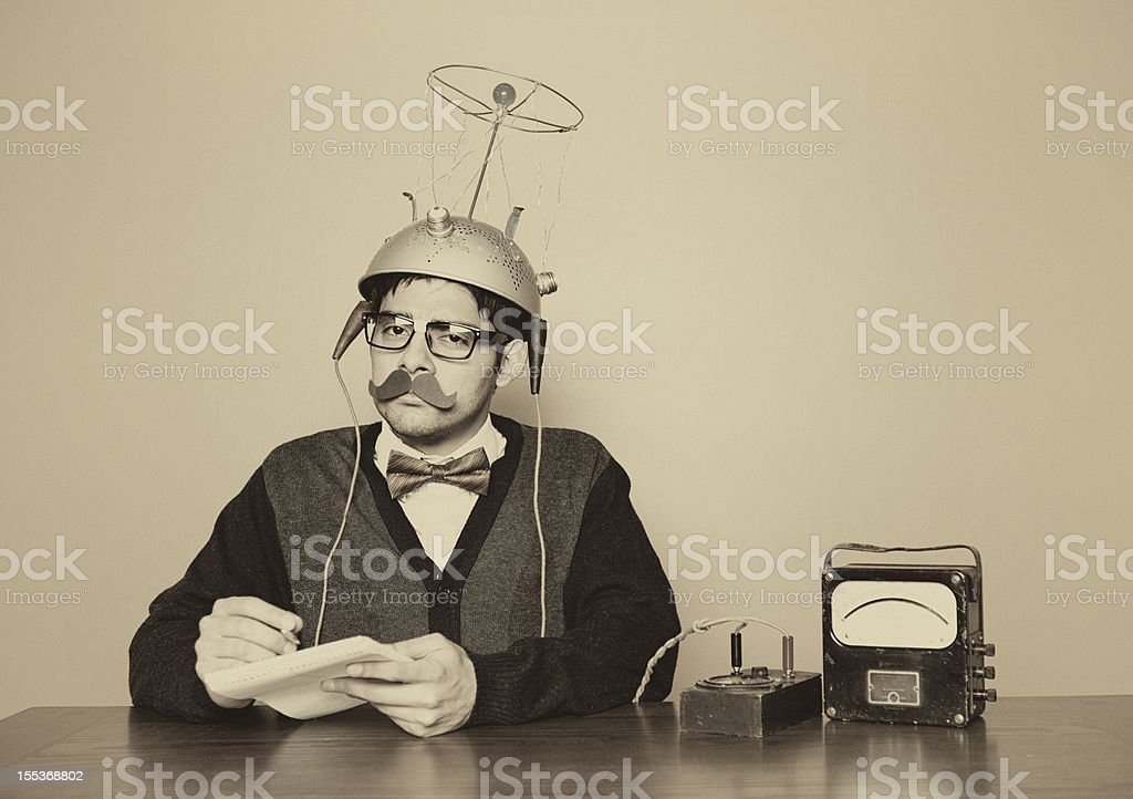 Vintage Mind Reader stock photo