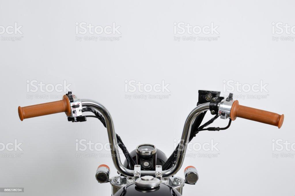 Vintage Mini Motorcycle (monkeybike) Handle Bars. Stock Photo