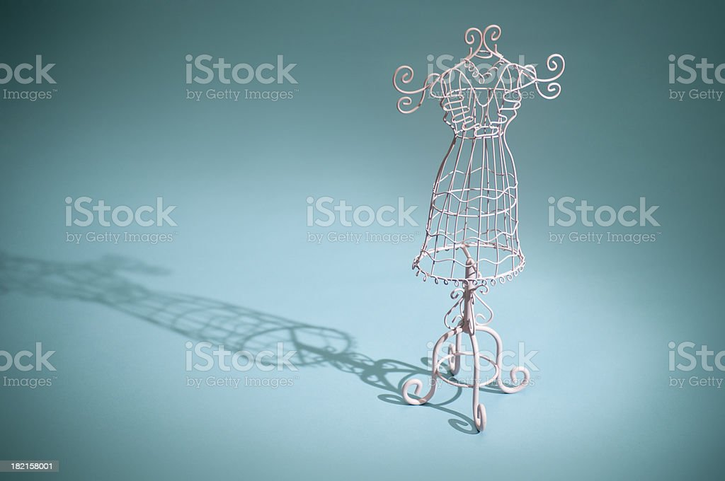 Vintage Miniature Dress Form stock photo