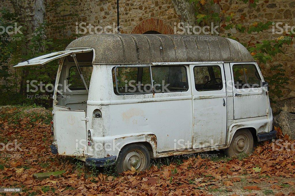 minivan Vintage e colori autunnali foto stock royalty-free