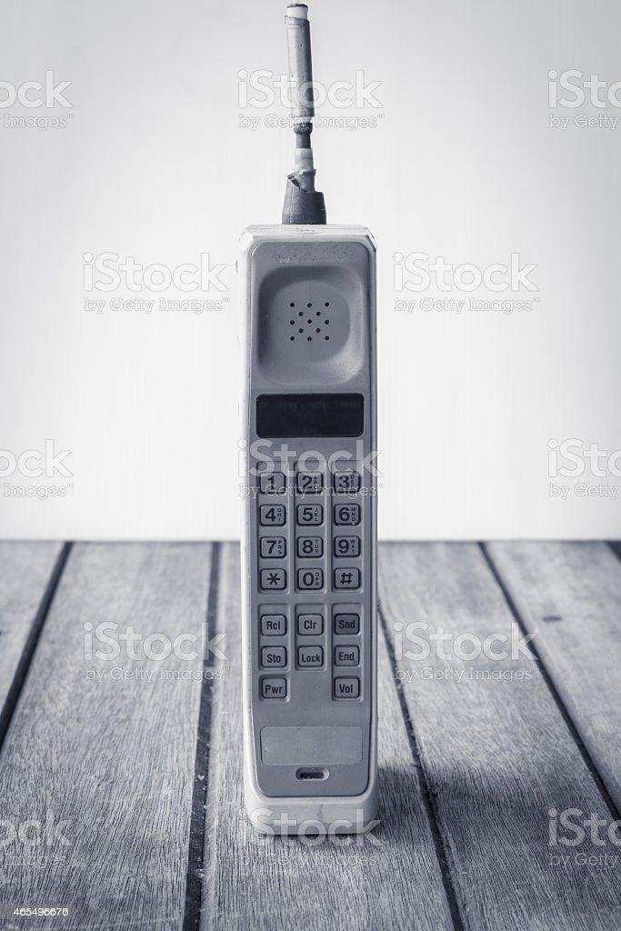 vintage mobile phone stock photo