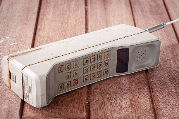 vintage mobile phone - 1980s style stock photos and pictures