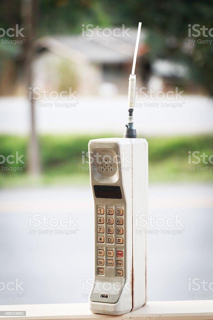 vintage mobile phone (vintage style) stock photo
