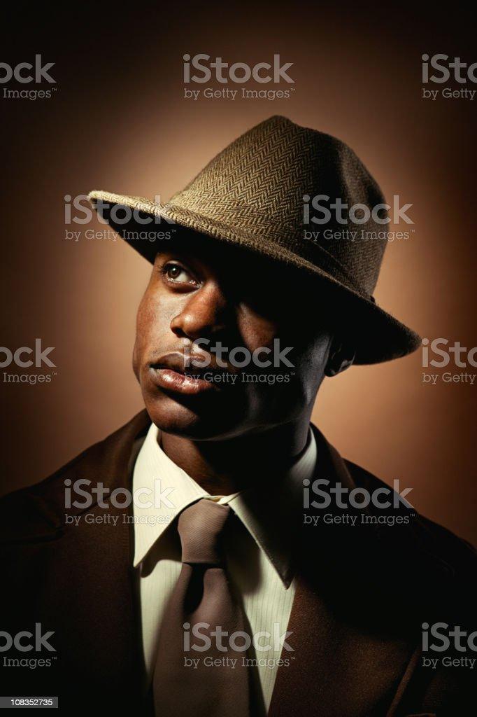 Vintage Mobster Business Man stock photo