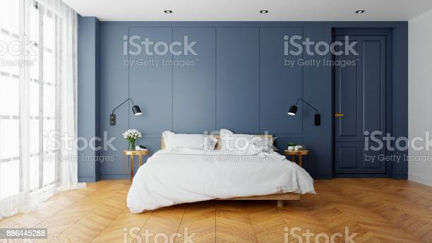 Vintage modern interior of bed room wood bed with wall lamp on and picture id886445288?b=1&k=6&m=886445288&s=612x612&h=6idx1uqndvhuuore  jgendyjcpy9qqr hq0epuxuxw=