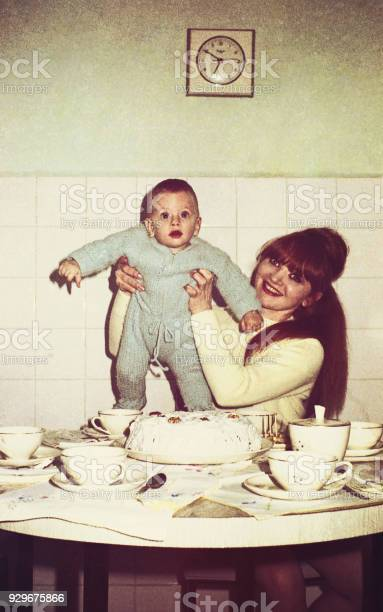 Vintage mommy and baby in the kitchen picture id929675866?b=1&k=6&m=929675866&s=612x612&h=xsu6hz  ikprhqptcdivvtv2lfcnuzwhdemybj3ucjs=
