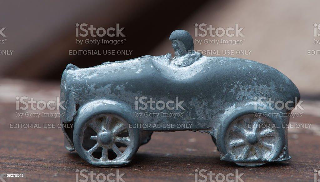 Vintage Monopoly Racecar stock photo