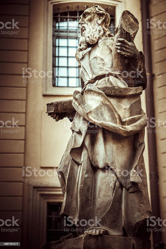 Vintage-Denkmal des alten Männliche Figur – Foto