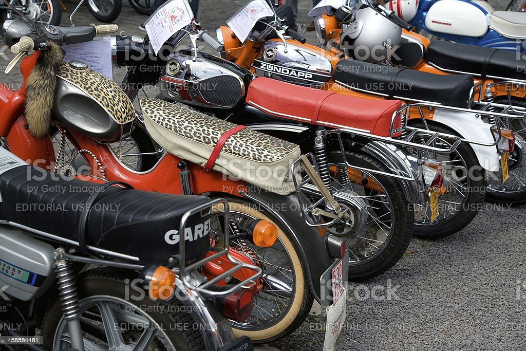 Vintage mopeds on a retro meeting in Cologne stock photo