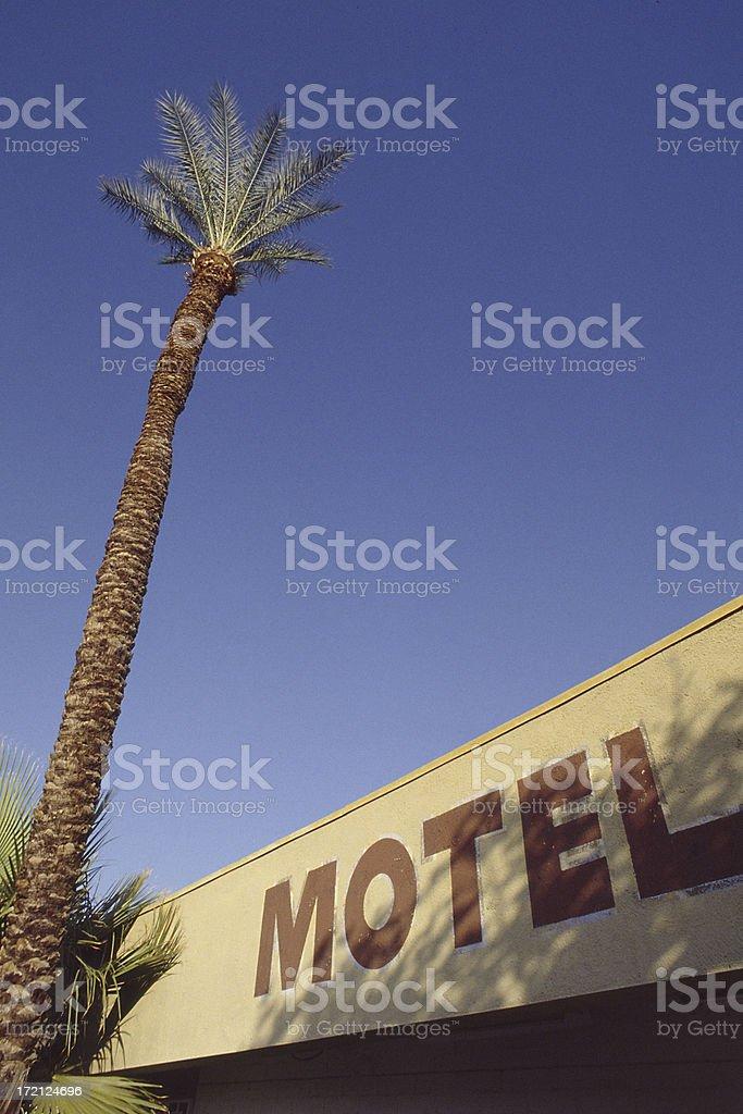 Vintage Motel stock photo