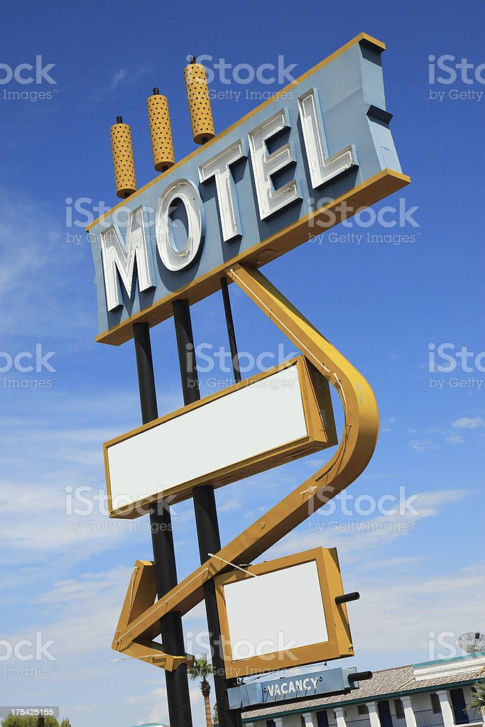Vintage Motel Sign Angle 1 royalty-free stock photo
