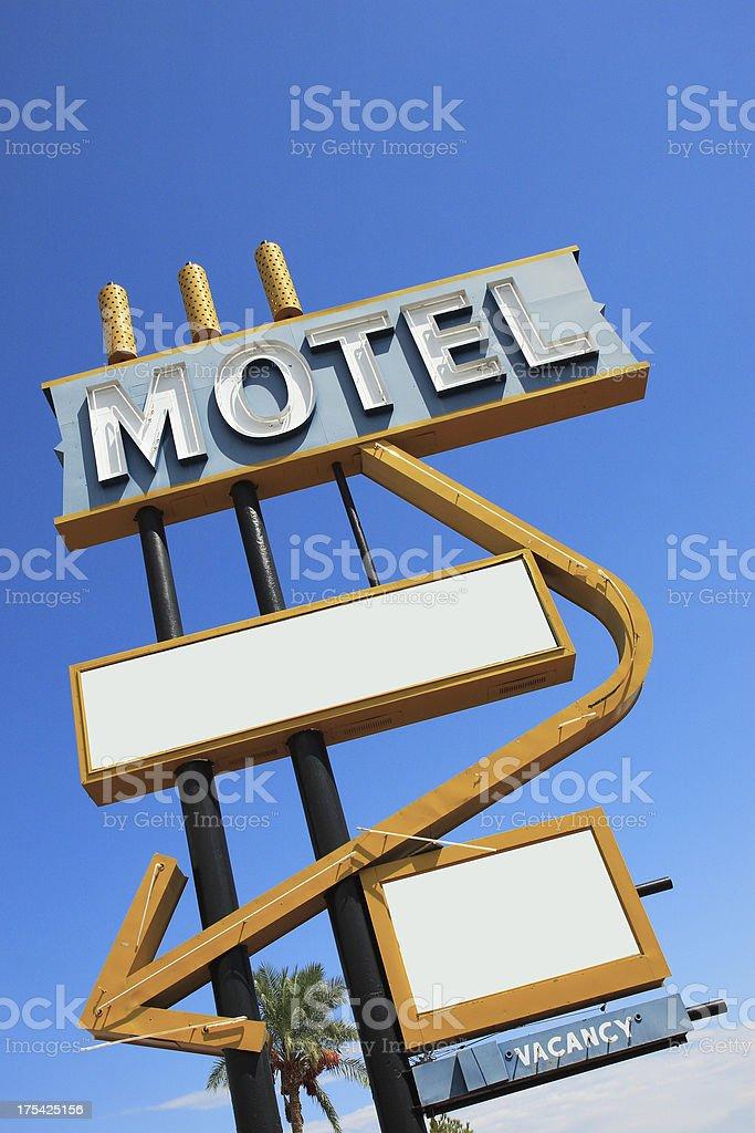Vintage Motel Sign Angle 2 royalty-free stock photo