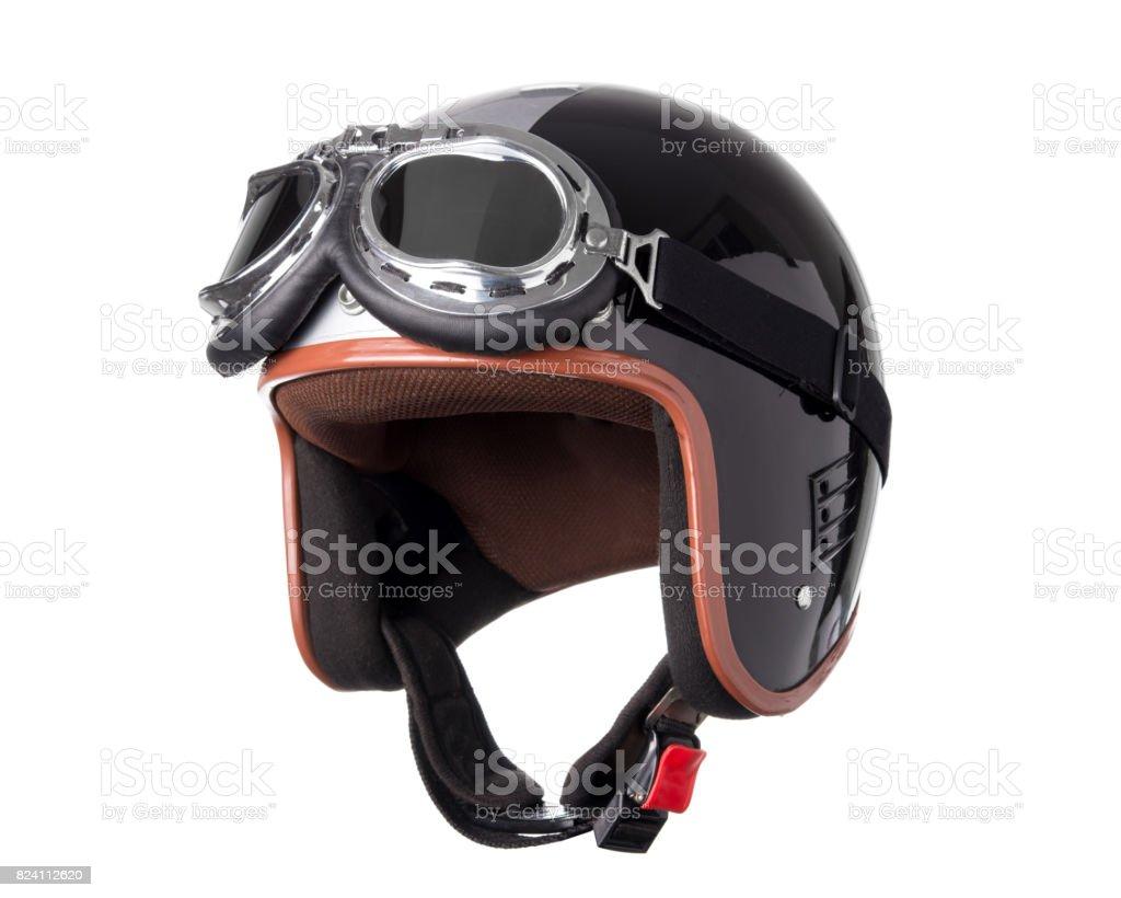 Vintage Motorcycle Helmet royalty-free stock photo