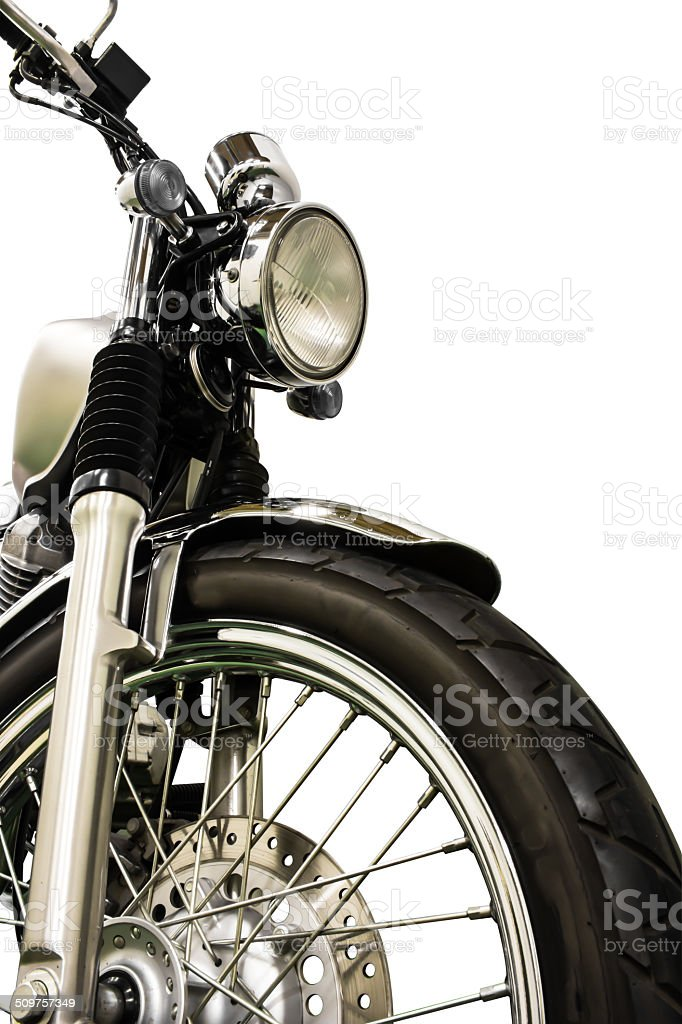 vintage Motorcycle isolated background and clippingpath stock photo