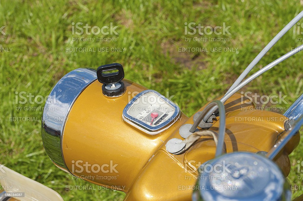 vintage motorcycle stock photo