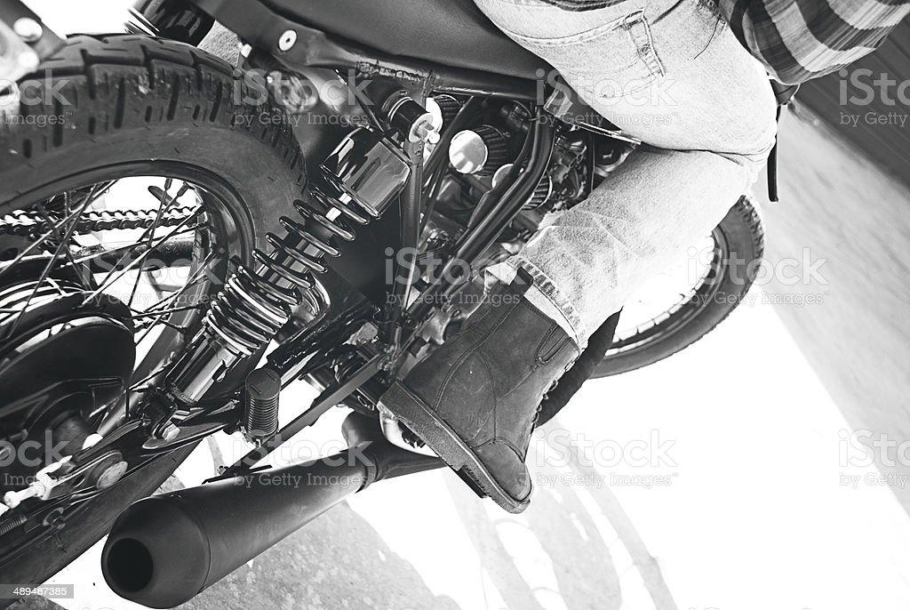 Vintage Motorrad. – Foto