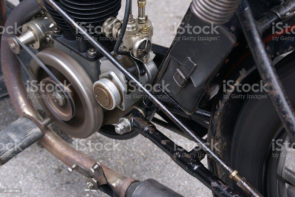 Vintage Motorcycle royalty-free stock photo