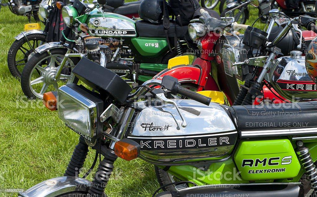 vintage motorcycles stock photo