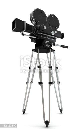 istock Vintage movie camera 182420310