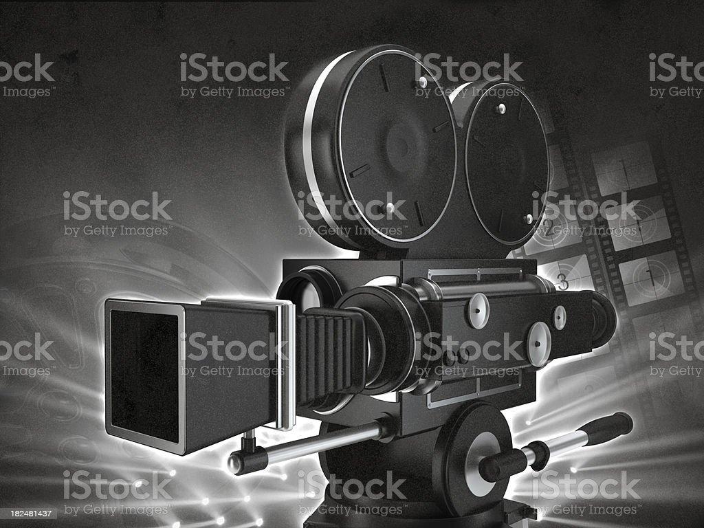 Vintage movie camera royalty-free stock photo