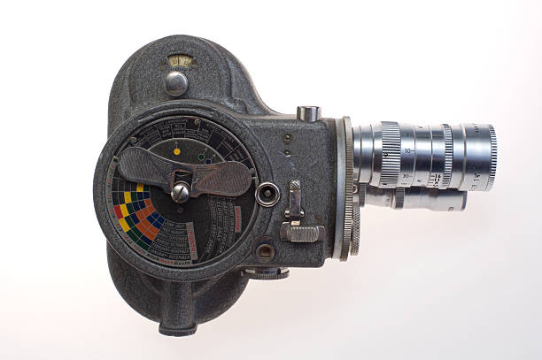 Vintage Movie camera series stock photo
