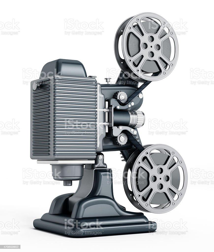 Vintage movie projector stock photo