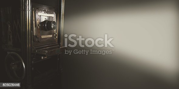 istock Vintage movie projector 825026446