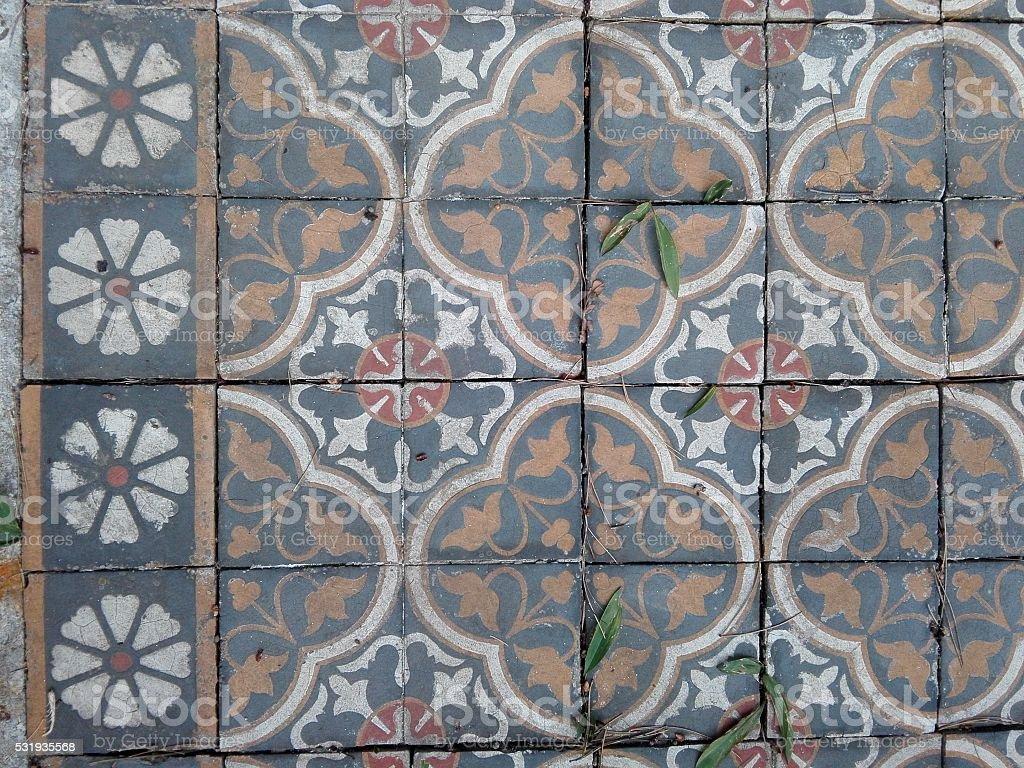 Pavimenti di piastrelle multiclored vintage fotografie stock e