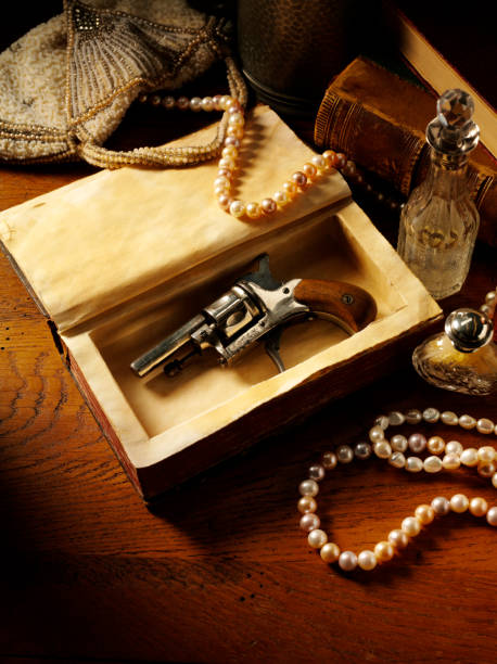 vintage murder theme - murder mystery stock photos and pictures