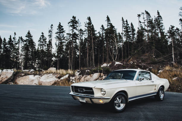 Vintage Muscle Car Vintage 1960's coupe. sports car stock pictures, royalty-free photos & images
