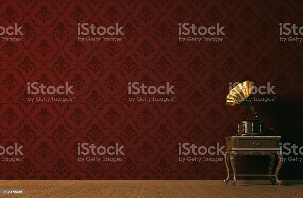 Vintage music concept stock photo