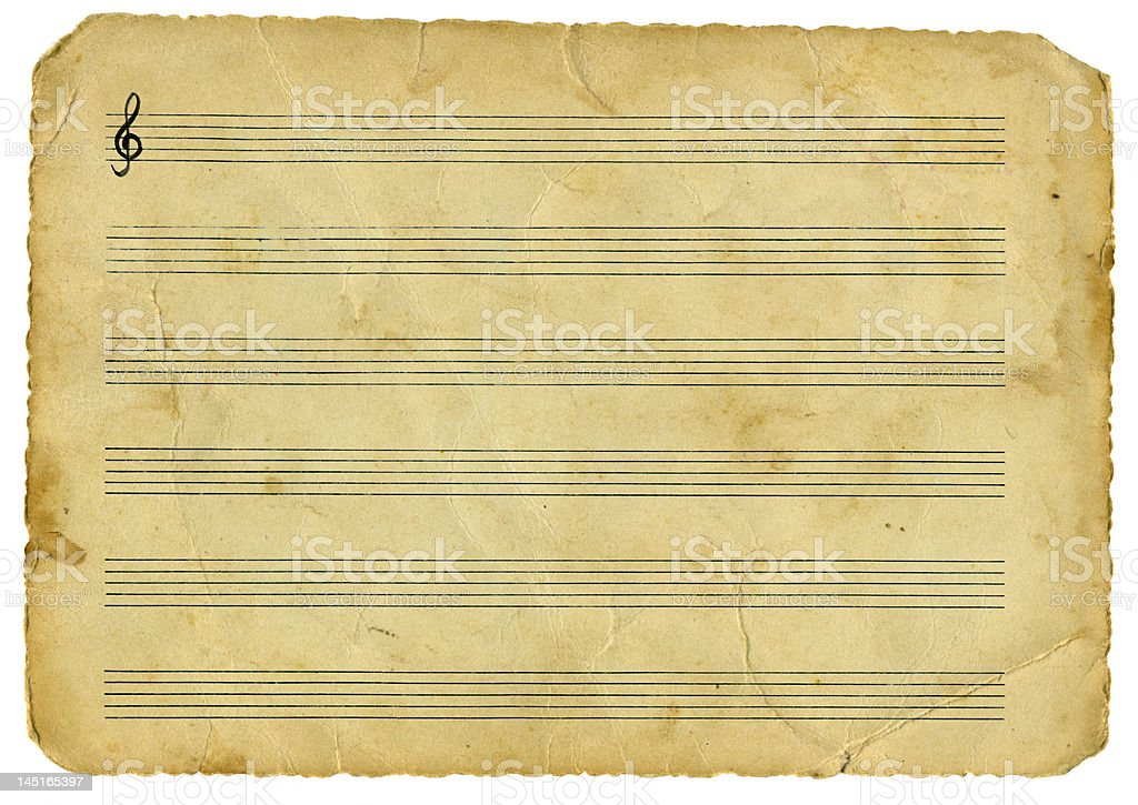 Vintage music stock photo