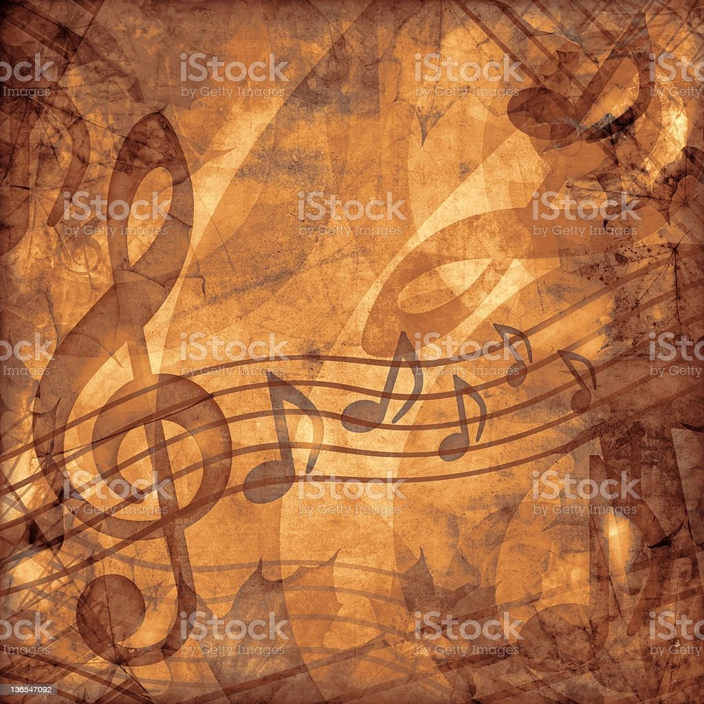 vintage music sepia background stock photo