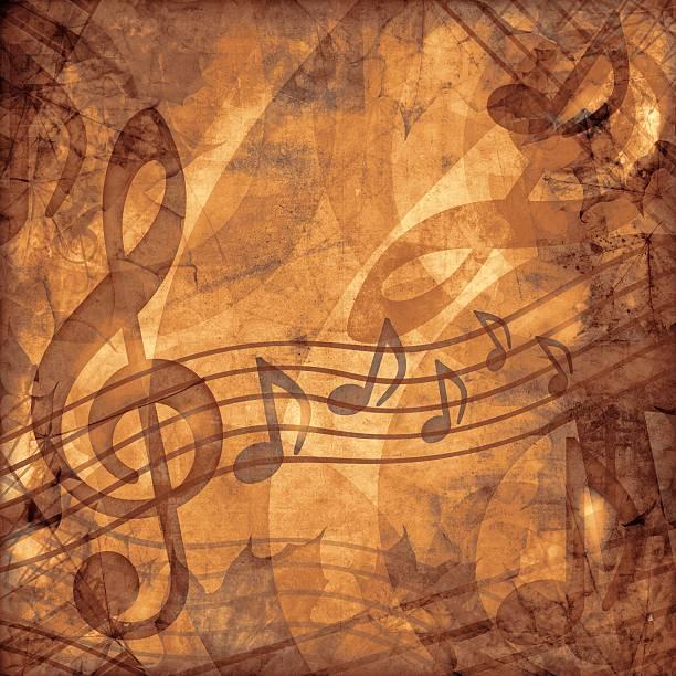 vintage Muzyka sepia tle – zdjęcie