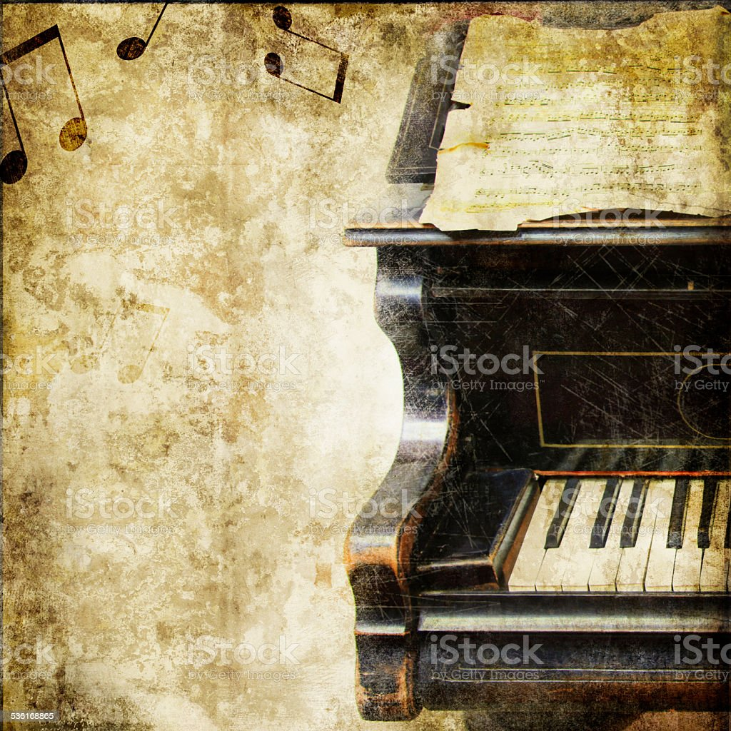 vintage musical background stock photo