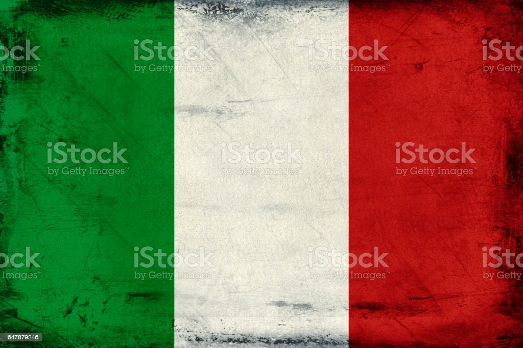 Vintage national flag of Italy background stock photo