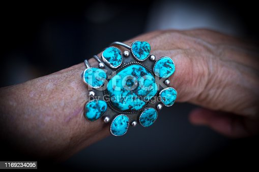 istock Vintage Native American Turquoise Bracelet (Close-Up) 1169234095