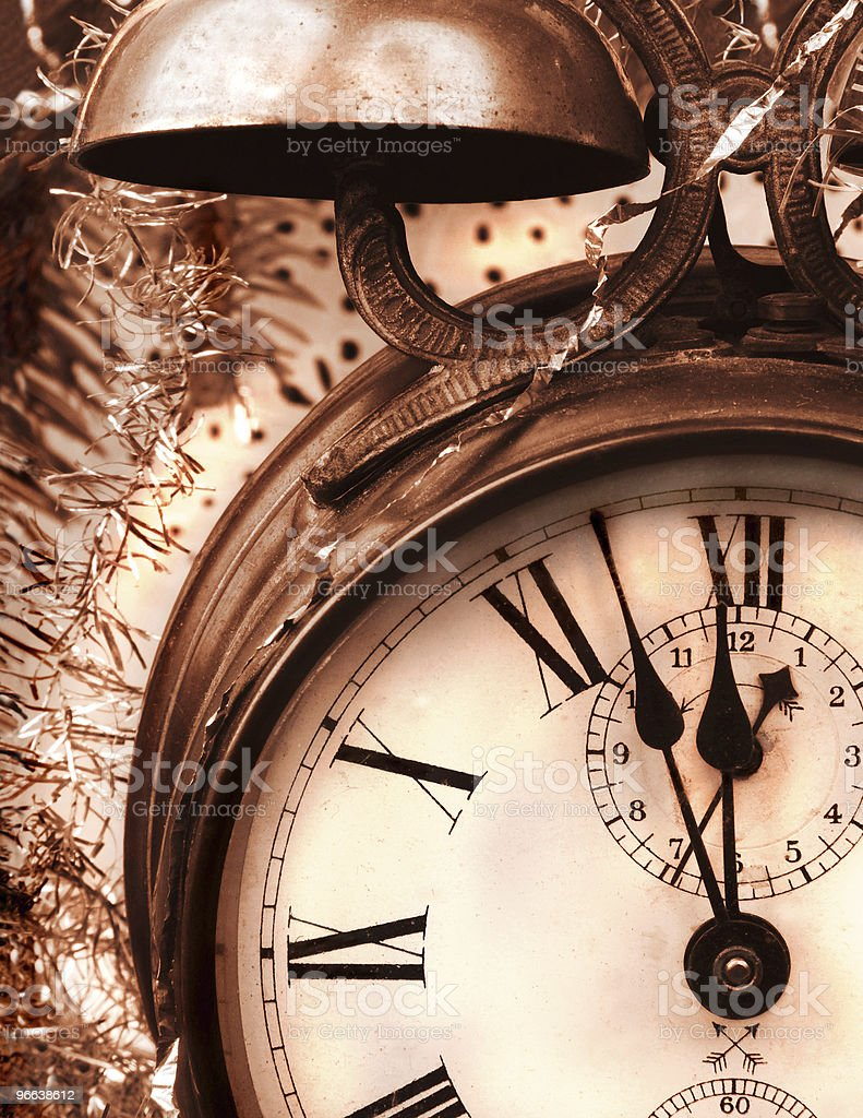 Vintage New Year royalty-free stock photo