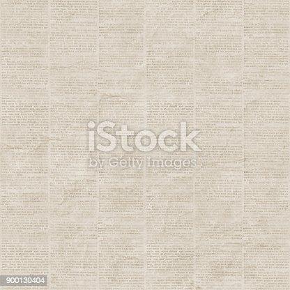 istock Vintage newspaper seamless pattern 900130404