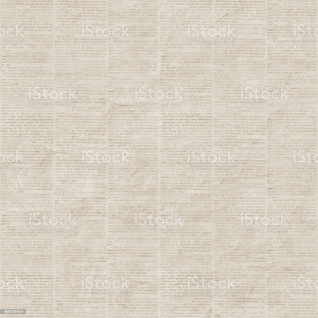 Vintage newspaper seamless pattern stock photo