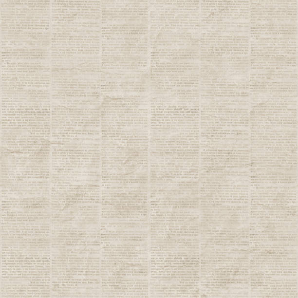 vintage newspaper seamless pattern - typescript stock pictures, royalty-free photos & images