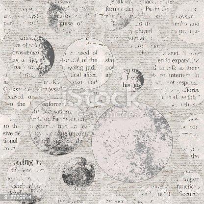 istock Vintage newspaper texture background 918779914