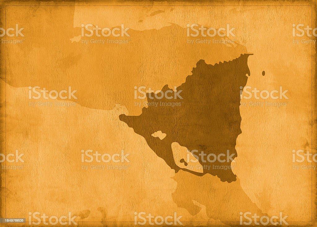 Vintage nicaragua map royalty-free stock photo