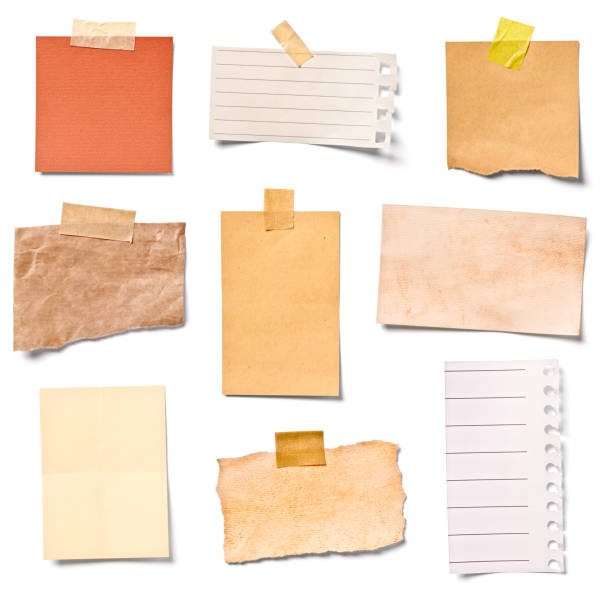 vintage note paper office business - bulletin board stock pictures, royalty-free photos & images