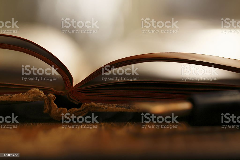 Vintage notepad stock photo