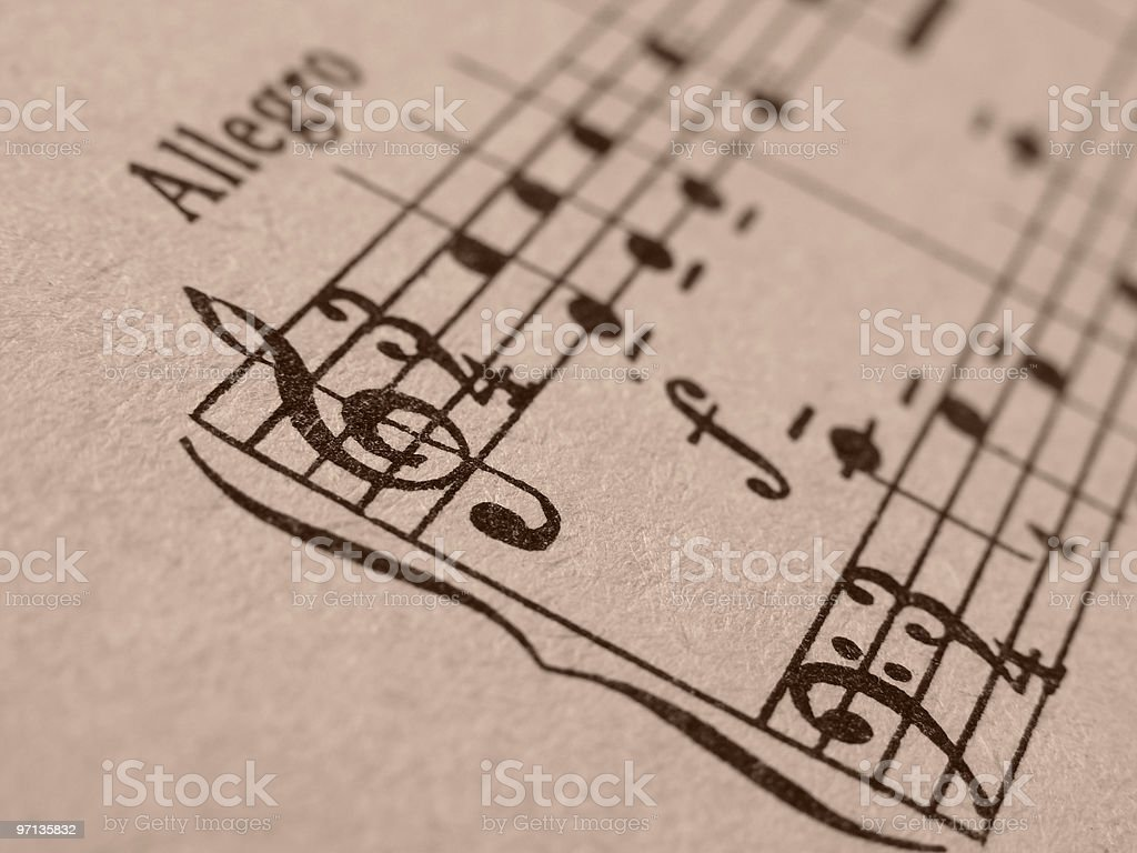 vintage notes royalty-free stock photo