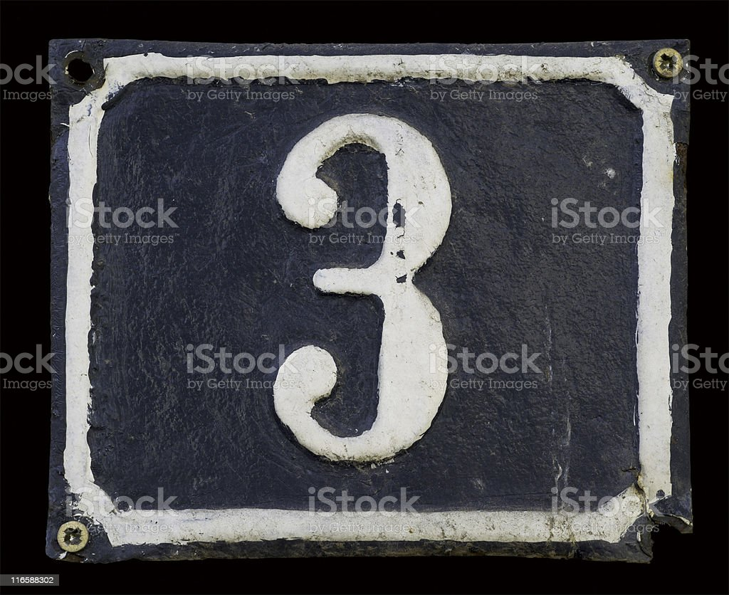 Vintage Numbers stock photo