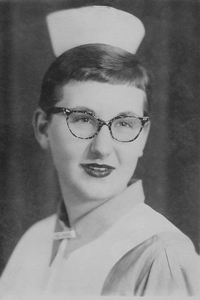 Vintage Nursing Student stock photo