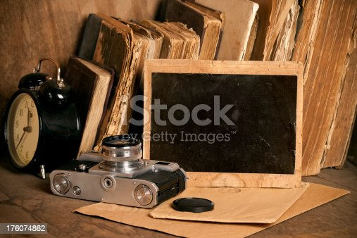 609706398 istock photo Vintage objects. Old photo frame. 176074862