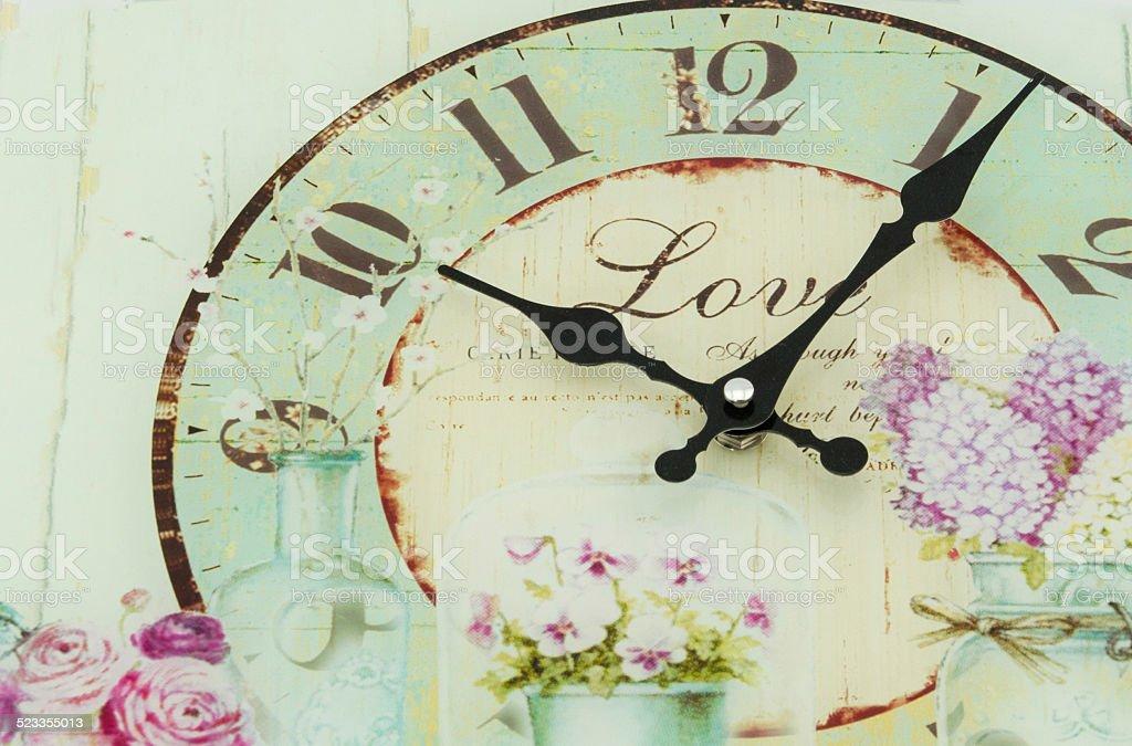 vintage o'clock stock photo
